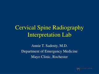 Cervical Spine Radiography Interpretation Lab