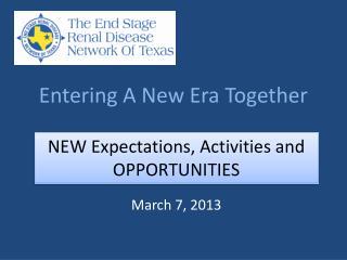 Entering A New Era Together