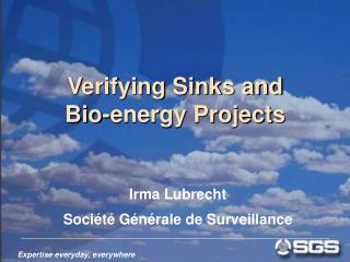 Verifying Sinks and  Bio-energy Projects