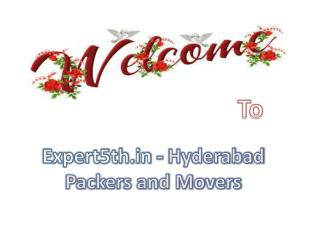 Expert5th.in Provide Hyderabad Packers and Movers