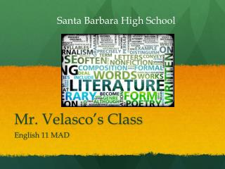 Mr. Velasco's Class