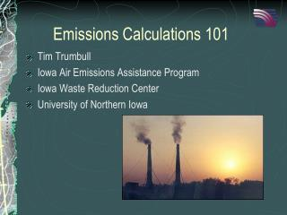 Emissions Calculations 101