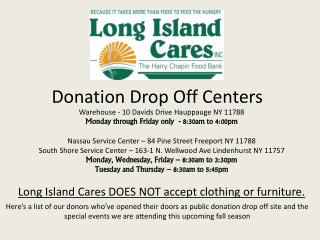 Donation Drop Off Centers