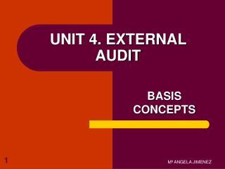 UNIT 4. EXTERNAL AUDIT