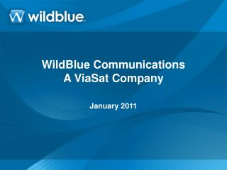 WildBlue Communications A ViaSat Company