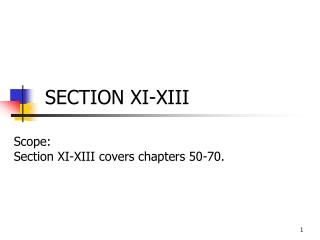 SECTION XI-XIII