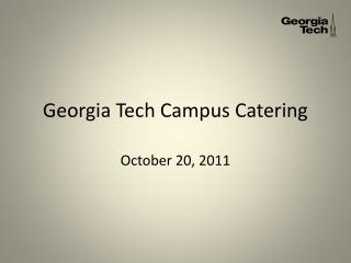 Georgia Tech Campus Catering