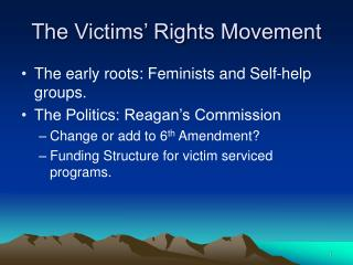 The Victims' Rights Movement