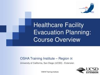 Healthcare Facility Evacuation Planning: Course Overview