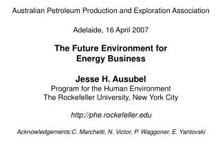 Australian Petroleum Production and Exploration Association Adelaide, 16 April 2007