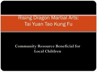 Rising Dragon Martial Arts:  Tai Yuan Tao Kung Fu