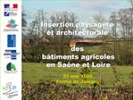 Chambre d agriculture De Sa ne et Loire