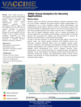 VASA: Visual Analytics for Security Applications  Mission Need