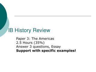IB History Review
