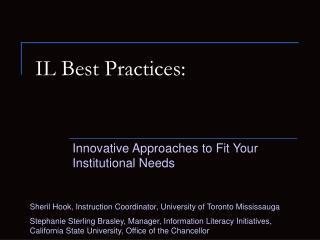 IL Best Practices: