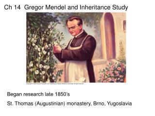 Ch 14  Gregor Mendel and Inheritance Study