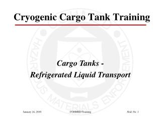 Cryogenic Cargo Tank Training