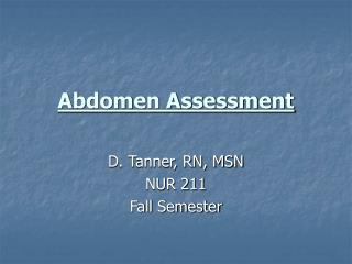 Abdomen Assessment