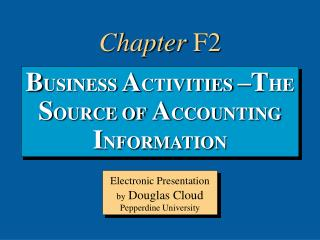 B USINESS  A CTIVITIES  – T HE  S OURCE OF  A CCOUNTING  I NFORMATION