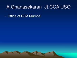 A.Gnanasekaran  Jt.CCA USO