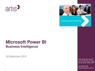 Microsoft Power BI Business Intelligence