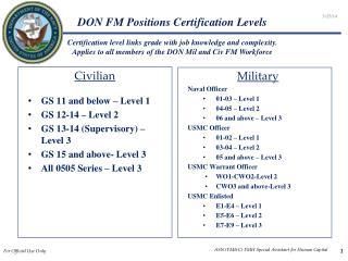 DON FM Positions Certification Levels