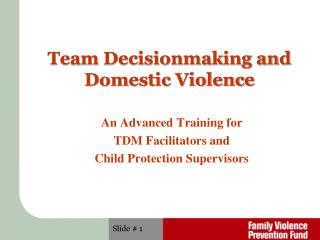 Team Decisionmaking and  Domestic Violence