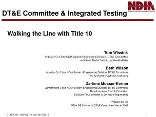 Walking the Line with Title 10