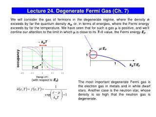 Lecture 24. Degenerate Fermi Gas (Ch. 7)