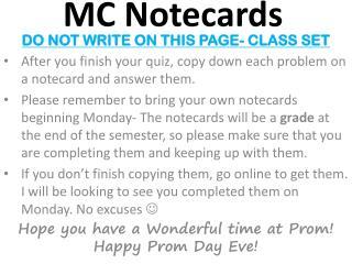 MC Notecards