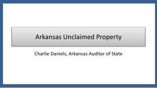 Arkansas Unclaimed Property