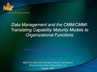 Cynthia C. Hauer Millennium Data Management, Incorporated Huntsville, Alabama