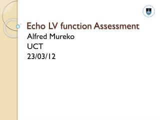 Echo LV function Assessment