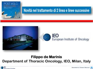 Department  of  Thoracic  Oncology