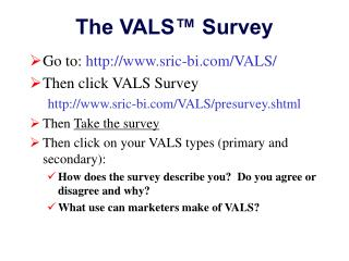 The VALS� Survey