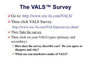 The VALS™ Survey