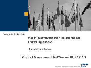 SAP NetWeaver Business Intelligence Unicode-compliance