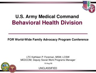 U.S. Army Medical Command Behavioral Health Division