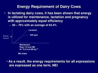 Energy Requirement of Dairy Cows