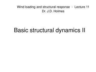 Basic structural dynamics II
