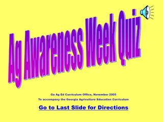 Ag Awareness Week Quiz