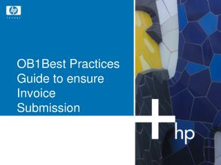 OB1Best Practices Guide to ensure Invoice Submission