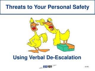 Using Verbal De-Escalation
