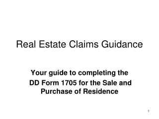 Real Estate Claims Guidance
