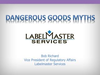 Dangerous GOODs Myths