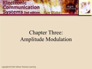 Chapter Three: Amplitude Modulation
