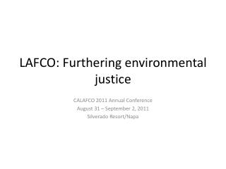 LAFCO: Furthering environmental justice
