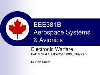 EEE381B Aerospace Systems  & Avionics