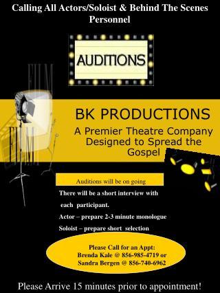 BK PRODUCTIONS