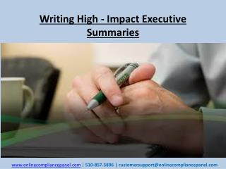 Writing High - Impact Executive Summaries